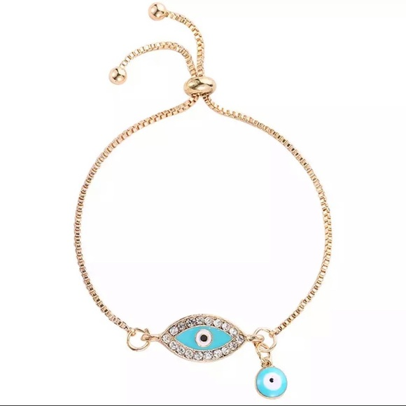 New gold plated Turkish evil eye 🧿 bracelet Boutique